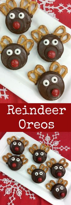 Easy Chocolate Covered Oreo Rudolph the Red Nosed Reindeer Recipe #holidayrecipes #oreorecipe #EasyRecipes #recipesforkids