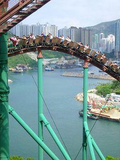Mine Train Roller Coaster, Ocean Park, Aberdeen, Hong Kong