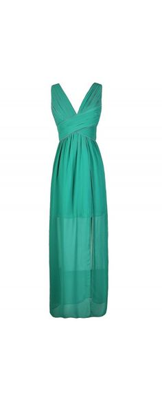 Criss Cross The Line Chiffon Designer Maxi Dress in Teal