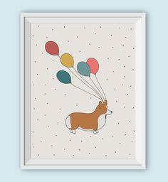 Hey, I found this really awesome Etsy listing at https://www.etsy.com/listing/264366704/printable-corgi-art-print-digital-animal