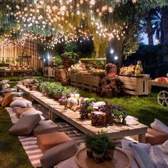 How cozy and beautiful is this outdoor dining space? We LOVE the hanging lights… How cozy and beautiful is this outdoor dining space? ❤️ We LOVE the hanging lights! 👀 Tag a friend who will love this design! Bühnen Design, Interior Design, Backyard Birthday, Budget Home Decorating, Decorating Tips, Home Improvement Loans, Dinner Sets, Bohemian Decor, Bohemian Gypsy