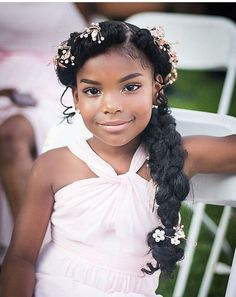 44 Sweet Daughter Hairstyles Ideas to Copy Now Breathtaking 44 Sweet Daughter Hairstyles Ideas to Co Wedding Hairstyles For Girls, Kids Braided Hairstyles, Flower Girl Hairstyles, Black Girls Hairstyles, Junior Bridesmaid Hairstyles, Teenage Hairstyles, Simple Hairstyles, Hairstyles 2016, African Hairstyles