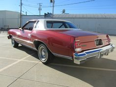 """1977 Monte Carlo in """"firethorn metallic"""" with just 12k on the odometer."""