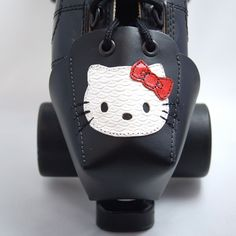 DA45 Leather Toe Guards with Hello Kitty by derbyvixen on Etsy, $50.00