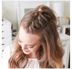 Braided Ponytail Hairstyles You Must Try! - Braided Ponytail Hairstyles You Must Try! Braided Ponytail Hairstyles You Must Try! Braided Ponytail Hairstyles, Easy Hairstyles For Long Hair, Braids For Long Hair, Box Braids Hairstyles, Girl Hairstyles, Summer Braids, Mohawk Braid, Braided Updo, 5 Braid