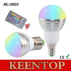 1Pcs E27 E14 LED RGB Bulb lamp AC110V 220V 5W LED RGB Spot light dimmable magic Holiday RGB lighting+IR Remote Control 16 colors