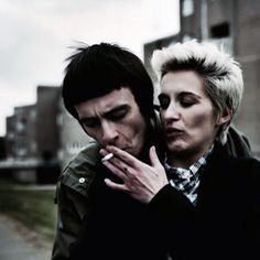 Joe Gilgun and Vicky McClure as Woody and Lol This Is England Film, Shane Meadows, Joseph Gilgun, Film Inspiration, S Pic, Film Movie, Movies And Tv Shows, Cute Couples, Videos