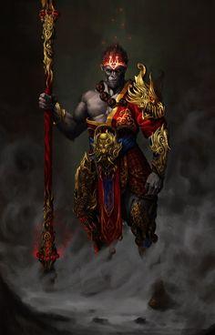 Fantasy Character Design, Character Design Inspiration, Character Art, Character Creation, Fantasy Weapons, Fantasy Warrior, Adventure Time Drawings, Lord Hanuman Wallpapers, Samurai Artwork