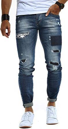 Leif Nelson Herren Jogger Chino Cargo Jeans Hose Freitzeithose LN8071