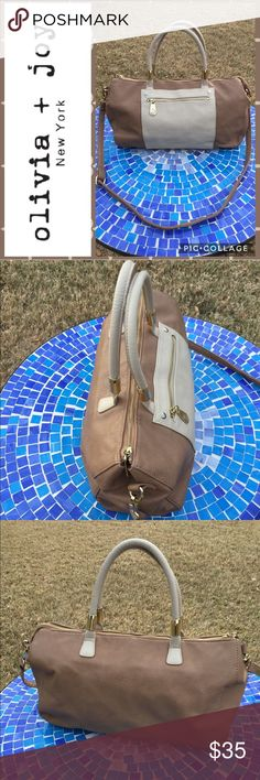 "GORGEOUS Olivia + Joy vegan leather cross body bag Absolutely gorgeous, convertible Olivia & Joy hobo bag will easily convert to a shoulder or cross body, making it ultra-convenient for every activity!  Gently carried with barely any visible wear & interior in virtually perfect condition!  Super pretty gold-toned hardware is still in good condition with an adjustable cross body strap to accommodate your preferred length!  Measures 16""x10""x4.5"".  Retails at $99!  No trades please. Olivia…"