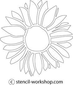 new table design! Sunflower Stencil, Sunflower Template, Sunflower Images, Sunflower Flower, Stencil Templates, Templates Printable Free, Flower Cut Out, Heart Quilt Pattern, Wallpaper Stencil
