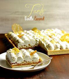 tarte vanille et caramel