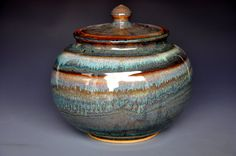 Lidded Storage Jar Hand Made Pottery F by darshanpottery on Etsy, $72.00