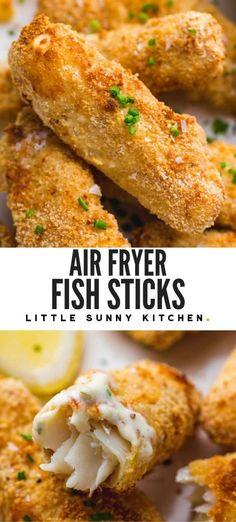 Air Fryer Fish Recipes, Cod Fish Recipes, Air Frier Recipes, Air Fryer Dinner Recipes, Seafood Recipes, Fish In Air Fryer, Lunch Recipes, Healthy Recipes, Breaded Fish Recipe