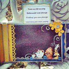 Beauty and The Beast Mini album for Melanie  Created with hot off the press licensed papers and cricut cartridge