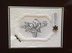 Double Embossing Technique (see YouTube), Stampin' Up! Happiness Shared stamp set
