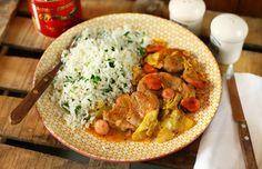 Frankfurti szelet Naan, Frankfurt, Thai Red Curry, Chicken, Cooking, Ethnic Recipes, Kitchen, Food, Street