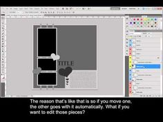 Photoshop & Photoshop Elements Quick & Easy: Working with ScrapHappy Page Templates 2/5