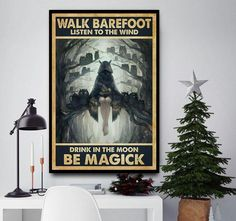 Halloween listen to wind drink in moon be magic poster Halloween Wall Decor, My Goal In Life, Homeless Dogs, My Heart Hurts, Dog Lady, Worlds Of Fun, Rescue Dogs, Poster Wall, Magick