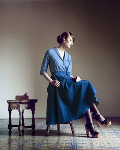 Chambray separates from  Heinui A/W 2013 collection. #fashion #chambray #blue