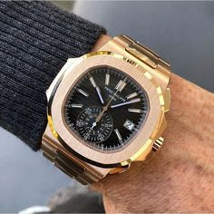 In some cases part of that image is the quantity of money you invested to use a watch with a name like Rolex on it; it is no secret how much watches like that can cost. Elegant Watches, Stylish Watches, Luxury Watches For Men, Beautiful Watches, Cool Watches, Dream Watches, Wrist Watches, Rolex, Audemars Piguet