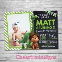 The Good Dinosaur Invitation - Dinosaur Invitations - Dinosaur Invites - Dinosaur Birthday Party by CheeriozDezigns on Etsy