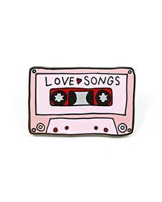"Remember when you used to record love songs off the radio to put on a mixtape for your lovey? Get nostalgic and sentimental with this pin.Collaboration between Valley Cruise Press and Abby Galloway.Hard enamel pinRubber clutch backingMeasurements: 1.25""By Valley Cruise Press"