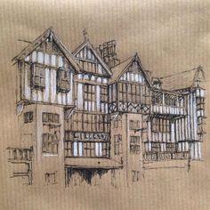 @libertylondon #art #drawing #pen #sketch #illustration #linedrawing #london #architecture #libertylondon by phoebeatkey