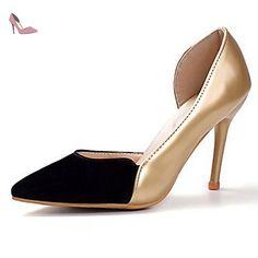 Les talons des femmes Printemps Été Automne Hiver Chaussures Club Bureau Tissu Confort &; partie de carrière &; tenue de soirée Stiletto Boucle HeelRhinestone,Bourgogne,US6 / EU36 / UK4 / CN36