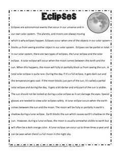 Teaching activities About Eclipses. Teaching about the solar system and Earth's Place in the Universe Types Of Eclipse, Full Eclipse, Lunar Eclipse, Astronomical Events, Our Solar System, Student Reading, Web Design, Shit Happens, Teaching
