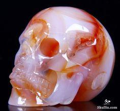 Very Nice! Crane, Skulls And Roses, Skull Fashion, Human Skull, Crystal Skull, Skull Art, Rocks And Minerals, Stones And Crystals, Punch Bowls