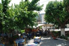 Taverne in Mili Samos, Bar, Greece, Street View, Grease