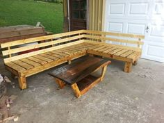 Beautiful reclaimed wood outdoor bench
