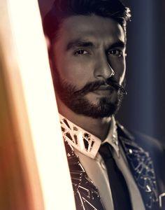 Ranveer Singh - I love his hair, moustache and beard.