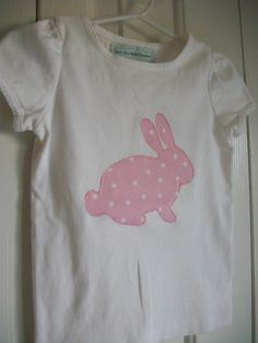 Bunny Appliqué Shirt, using cricut holiday cake cartridge