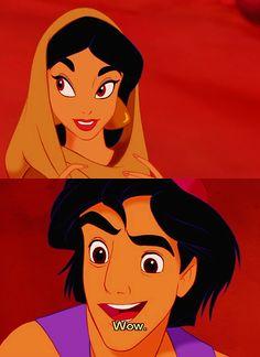 Jasmin and Aladdin Walt Disney, Disney Couples, Disney Magic, Disney And Dreamworks, Disney Pixar, Disney Characters, Funny Disney, Disney Films, Disney Art