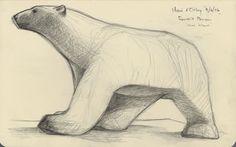 Michael Knapp, sketch of Pompon's 'Polar Bear'