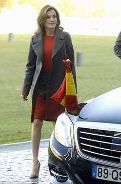 Royals & Fashion - King Felipe and Queen Letizia spend their second day in Portugal. Visit of the University of Porto