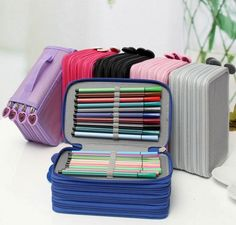 4 Layer 72 Hole Pencil Storage Case