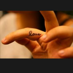 Small Love Tattoo Design for Girl on Finger | Cool Tattoo Designs