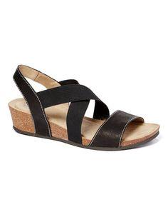 c2f6dd46adf White Mountain Black Carlisa Leather Sandal