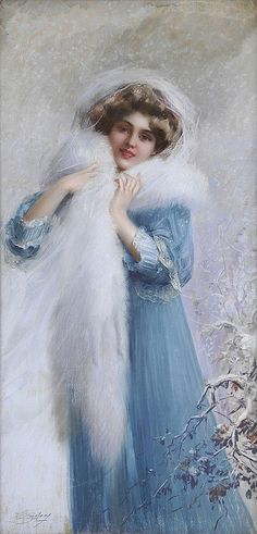 L'Hiver by Delphin Enjolras (French, 1857-1945)