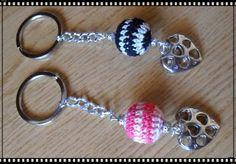 Silvia Jewellery of Style: Portachiavi perla uncinetto e cuore