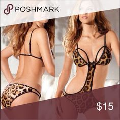 Sexy leopard lingerie Brand new without tags but comes in original plastic packaging Intimates & Sleepwear Chemises & Slips