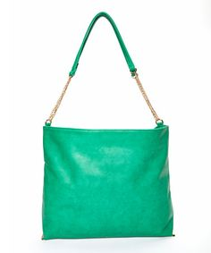 Another great find on #zulily! Green Chain Hobo #zulilyfinds