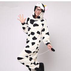Adult Onesie Pajamas Womens Pajams Cow Kigurumi for Women by xdomo, $37.99