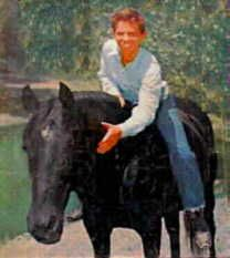"""""""Fury"""" known as """"Highland Dale"""" lived on a farm in Joplin, MO.  Was 18 months old when he was discovered by Ralph McCutcheon a horse trainer for motion pictures.  """"Fury"""" Sat. morning TV 1955-1960, starring Peter Graves.  Was also in many other movies and TV shows.  """"Flicka"""", Bonanza"""", """"Lassie""""."""