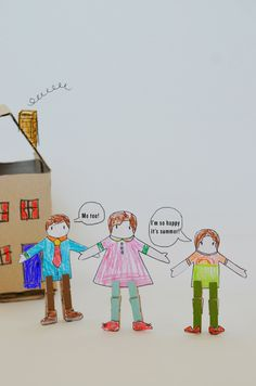 camp home: clothespin paper doll