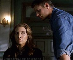 LOVE this gif of Dean with Bela :D 3x06 Red Sky At Morning