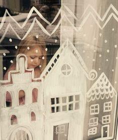 Advent: Fenster bemalen mit natürlicher Farbe - Besser leben ohne Plastik Classroom Window, Create Your Own World, Winter Magic, Cardboard Crafts, Christmas Decorations, Holiday Decor, Kindergarten, Xmas, Crafty